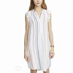 Cloth & Stone Striped Linen Blend Dress Small EUC